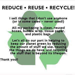 REDUCE ♻️ REUSE ♻️ RECYCLE